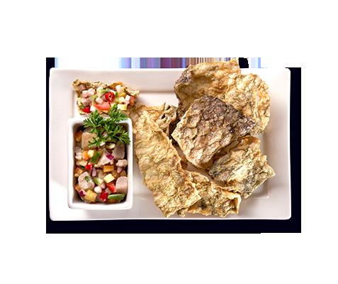 ZubuChon Fish Skin Tacos