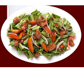 ZubuChon Mustasa Salad with Lechon